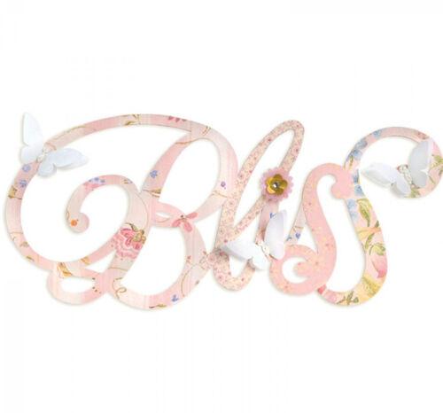 Sizzix bigz xl découpe phrase bliss use in big shot pro ou big shot plus