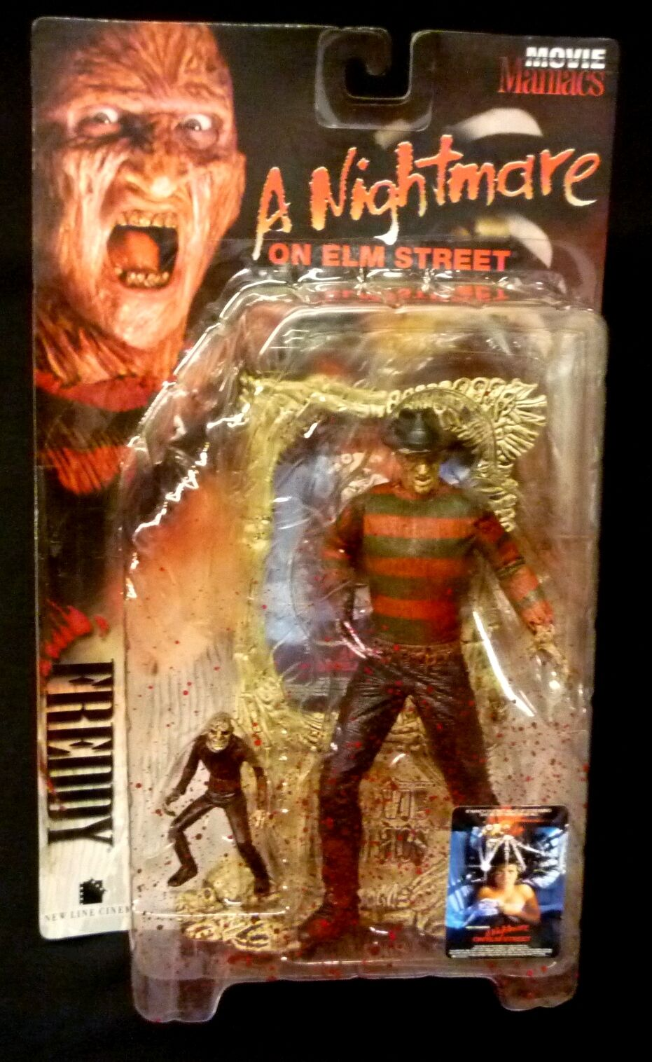 McFarlane leksaker Movie Maniacs Super Bloody Fröddy Krueger Action Figur Ny 1998