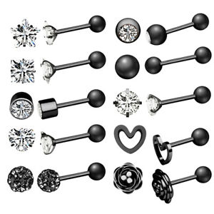 2-Zircon-Monroe-Labret-Stud-Lip-Ring-Ear-Cartilage-Tragus-Helix-Piercing-Earring