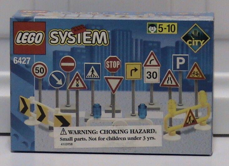 Nuovo Lego Town 6427 Segnali Stradali Nuovo Imballato Htf