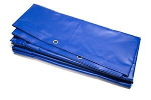 Race Rally Ground Sheet Heavy Duty 6m x 3.5m blue PVC