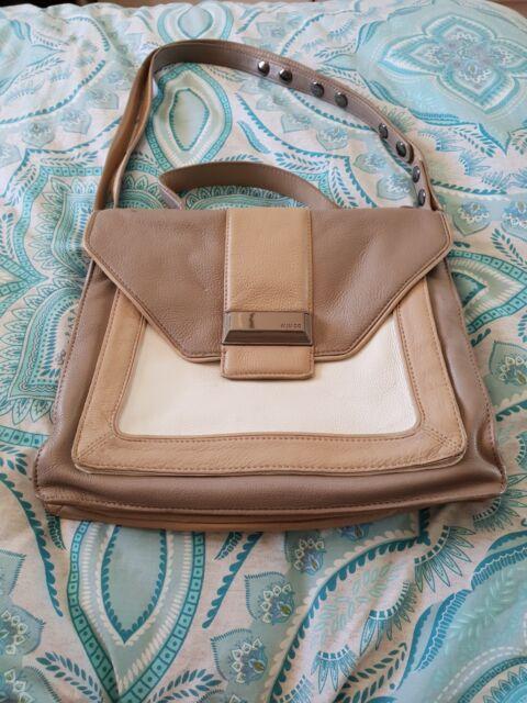 MIMCO Beige Cream Leather Hobo Boho Shoulder Cross Body Satchel Bag Handbag C8