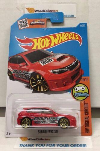Subaru WRX STI #30 * RED* 2016 Hot Wheels * E22