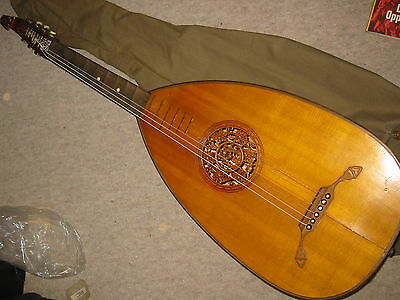 Nice old Lute, mandolin or guitar? beautiful soundhole w. wine leaves and lyra!