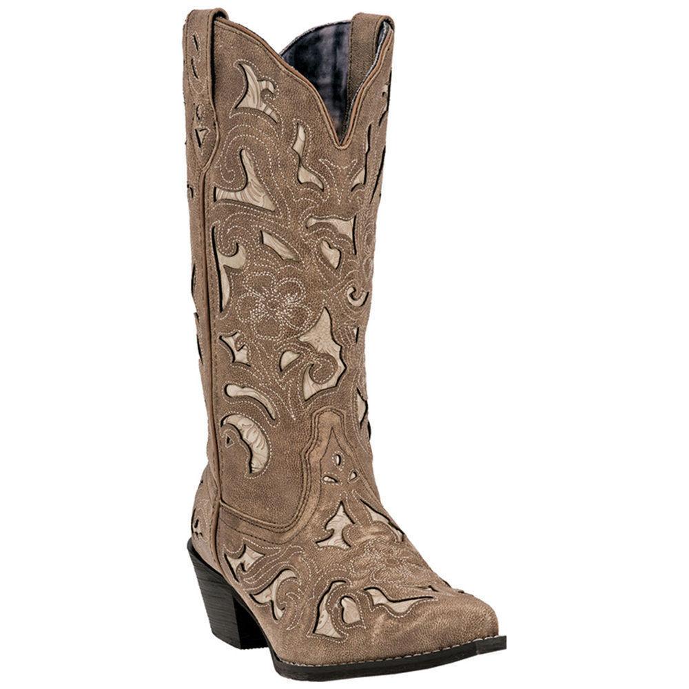 Laredo 52041 Women Sharona Western Cowgirl Cowgirl Cowgirl Fashion 12  Snip Toe Cowboy Boot 41c117