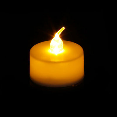 6/12Pcs Flameless LED Tealight Candle Flickering Tealight Night Light Home Decor