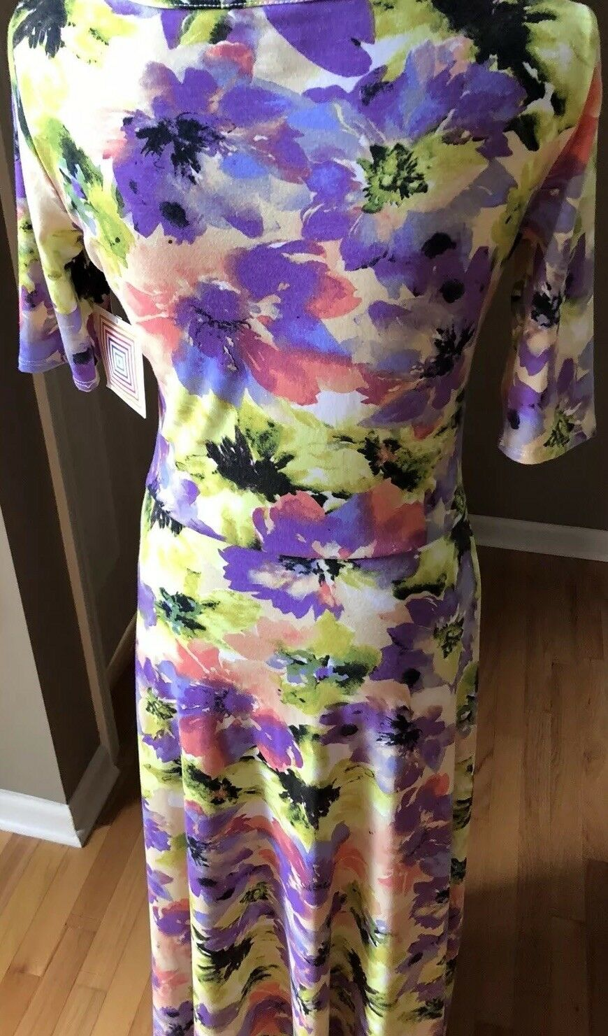 Vintage Watercolor LulaRoe Ana Dress, Floral. Extremely Rare  NWT