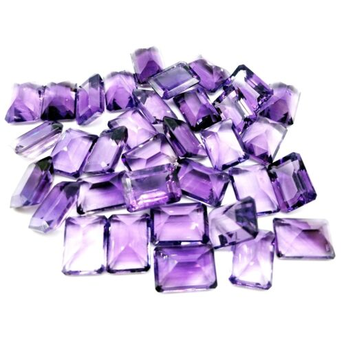 Wholesale Lot 9x7mm /& 10x8mm Emerald Cut African Amethyst Loose Calibrated Gems