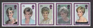 GB-GREAT-BRITAIN-1998-PRINCESS-DIANA-SET-NEVER-HINGED-MINT