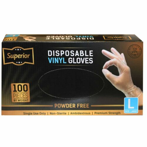 Disposable Vinyl Gloves Strong /& Flexible for Food Handling or General