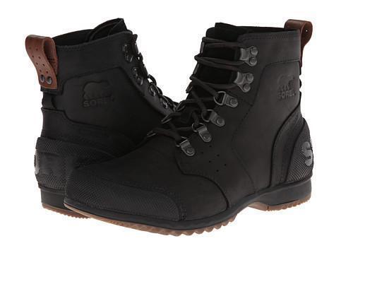 Authentic SOREL Ankeny Mid Hiker Black/Tabacco NM2100-010 Winter Boot *NIB*