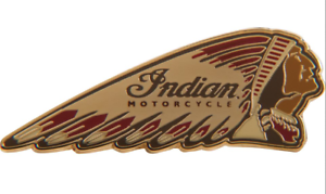 INDIAN MOTORCYCLE BLACK LEATHER BI-FOLD WALLET SCRIPT HEADDRESS LOGO CHIEF IMC