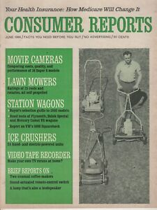 June-1966-Consumer-Reports-Magazine-Lawn-Mowers-Station-Wagons-Video-Tape-R