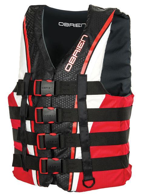 O'Brien 4 Belt pro Kayak Water Ski Wakeboard Buoyancy Aid Impact Vest