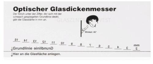 Isolierglas SZR Glasdickenmesser 2 x Glasstärkenmesser Messkluppe Messwerkzeug