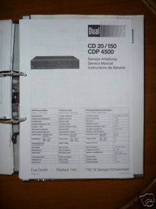 MANUAL-DE-SERVICIO-DUAL-CD-20-150-CDP-4500-reproductor-de-CD-original