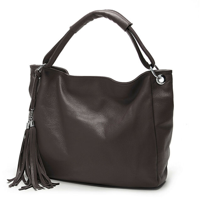 Soft Cowhide Genuine Leather Tote shoulder Handbag Young Women Female Bag Purse