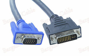 10FT-DVI-I-Dual-Link-24-5-Male-to-VGA-Male-Video-PC-Monitor-Cable-Cord