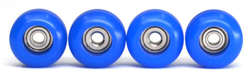 Dark Blue Fingerboard Bearing Wheels Polyurethane,100D Set of 4 -Teak Tuning