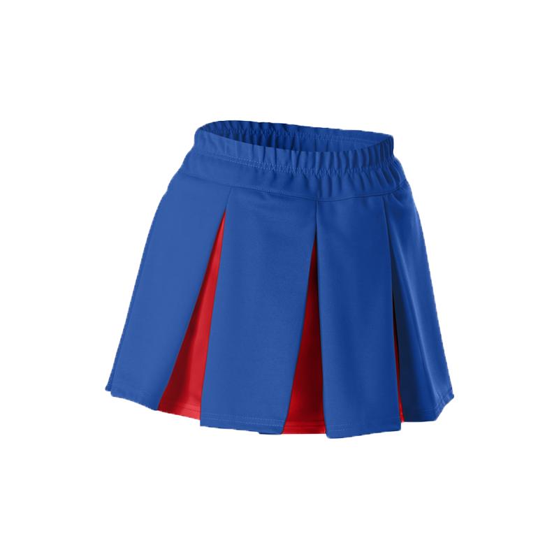 Alleson Girls Cheerleading Multi Pleat Skirt, Blue/Red, Medium, New