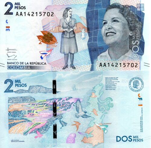 COLOMBIA 2000 Pesos Banknote World Paper Money UNC Currency Pick p458 2016