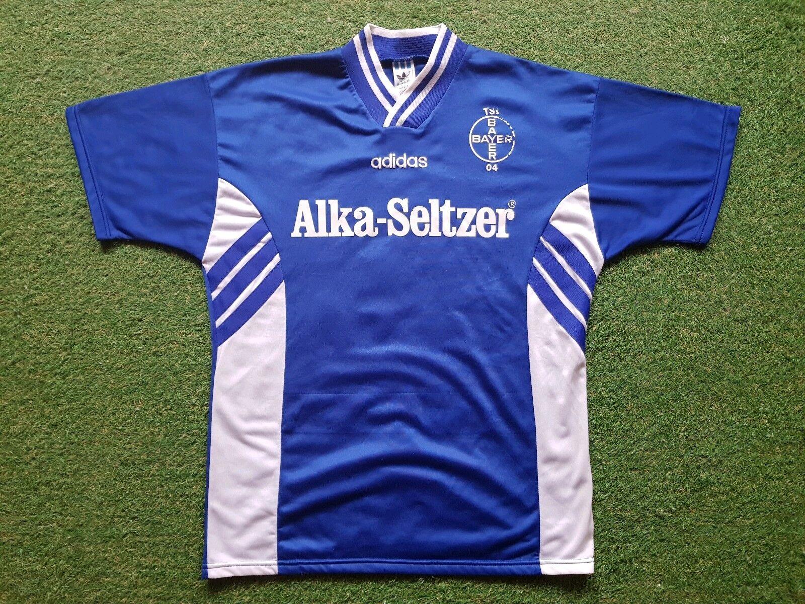 Bayer 04 Leverkusen Trikot L 1995 1996 1996 1996 Ausweich Adidas Shirt Alka Seltzer FACH dc6e0b