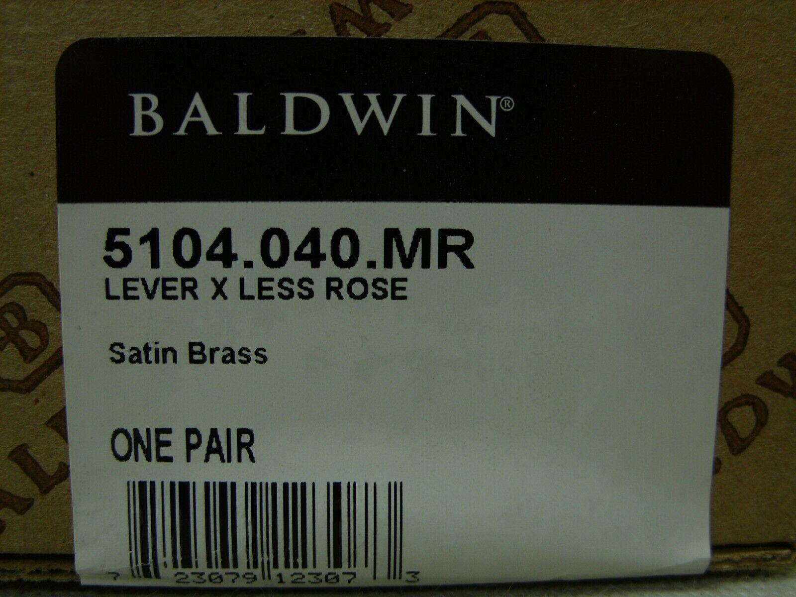 Baldwin Kunstvoll Estate Hebel Weniger Rosa - Satin Messing - 5104.040.mr - Full | Elegante und robuste Verpackung
