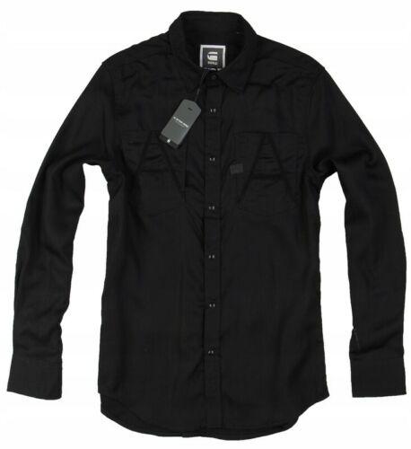 L G-star Raw Men/'s Shirt Crotch Varsity Work Slim Shiny Black//Brown M