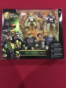 True Legends Orcs Figurines d'action 4 pack Toys-r-us Discontinued Nouveau dans Box Box