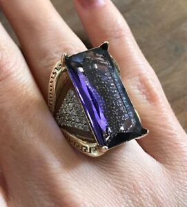 Turkish-Handmade-Jewelry-Sterling-Silver-925-Amethyst-Ring-Size-7-8-9