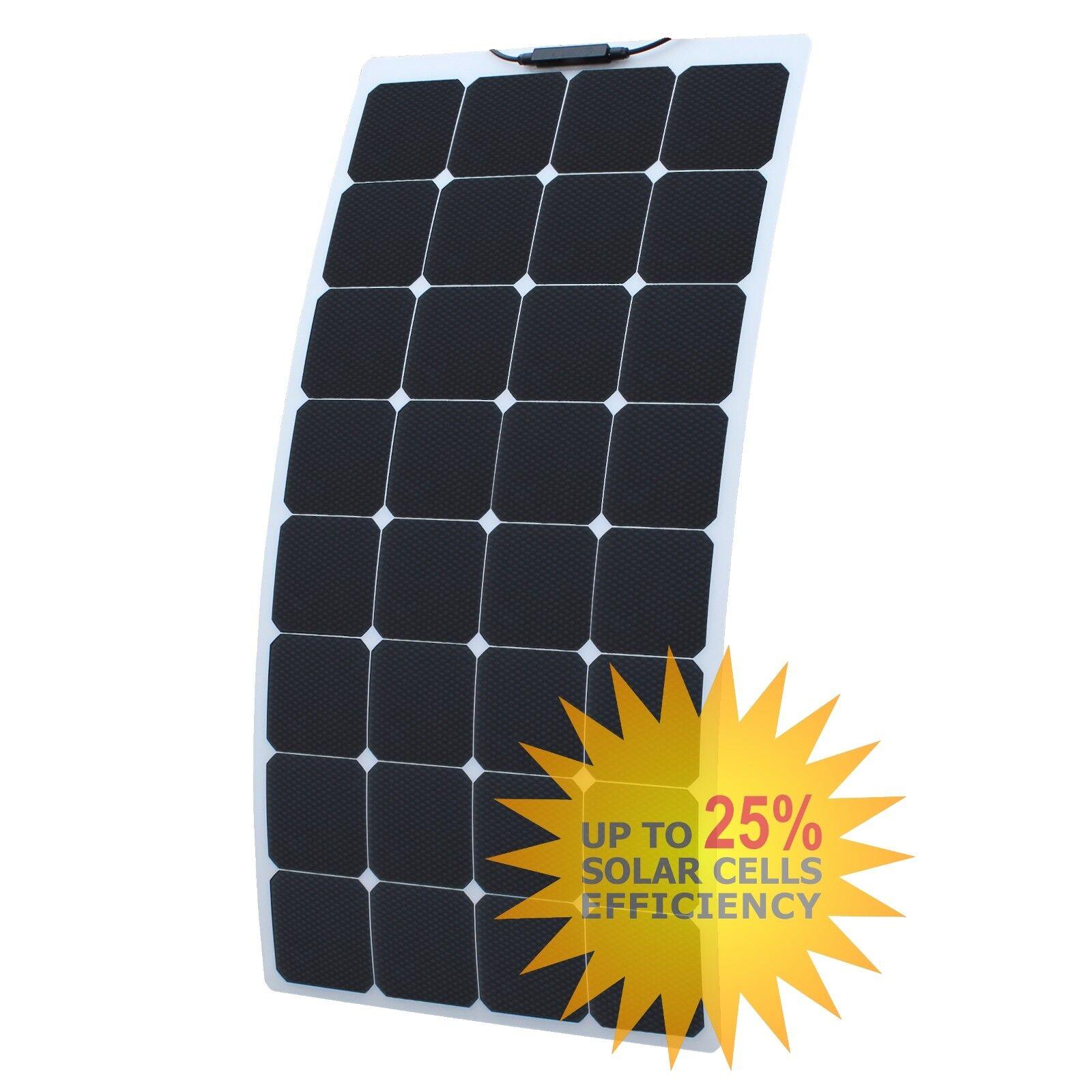 110W semi-flexible ETFE anti-reflective solar solar solar panel for boat campervan motorhome 65e74e