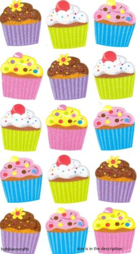 EK SUCCESS STICKO STICKERS CAKES 15 CUPCAKES POSTAGE DEAL PARTY GOODIES