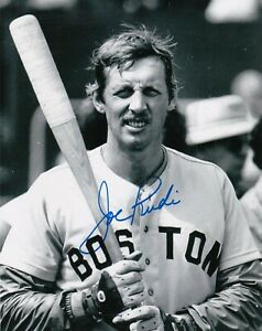 JOE RUDI  BOSTON RED SOX   ACTION SIGNED 8x10
