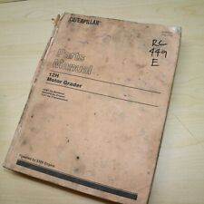 Cat Caterpillar 12h Motor Grader Parts Manual 4xm Series Book Catalog Spare Road