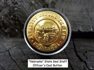 Old Rare Vintage Antique War Relic Nebraska Officer Coat Button