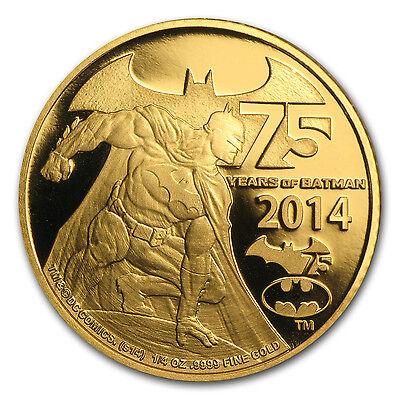 2014 Niue 1/4 oz Proof Gold 75 Years of Batman - SKU #85656
