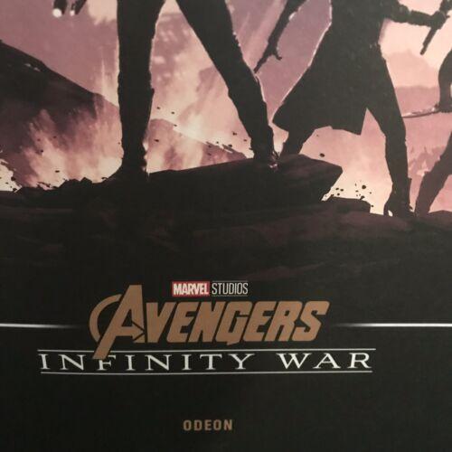 Marvel Avengers Infinity War CINEMA POSTER RARO Guardiani della Galassia /& THOR