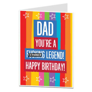 Happy Birthday Card For Dad Funny Blunt Perfect For Dad S 40th 50th