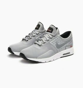 pretty nice 78e6f 0619f Image is loading Nike-Womens-Air-Max-Zero-Grey-Premium-QS-