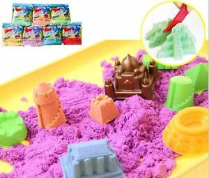 Magic-Motion-Moving-Sand-1kg-1000g-Tools-Children-Toy-Never-Dry