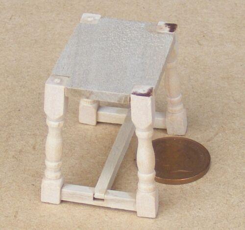 Escala 1:12 Acabado Natural de Tocador Taburete De Madera Muebles De Casa De Muñecas 111