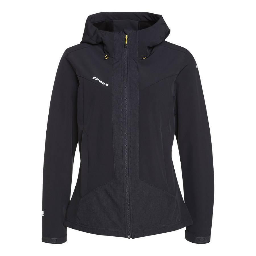 Señora Softshell chaqueta con capucha, Icepeak kerstin PVP 89,95 viento densa y caliente