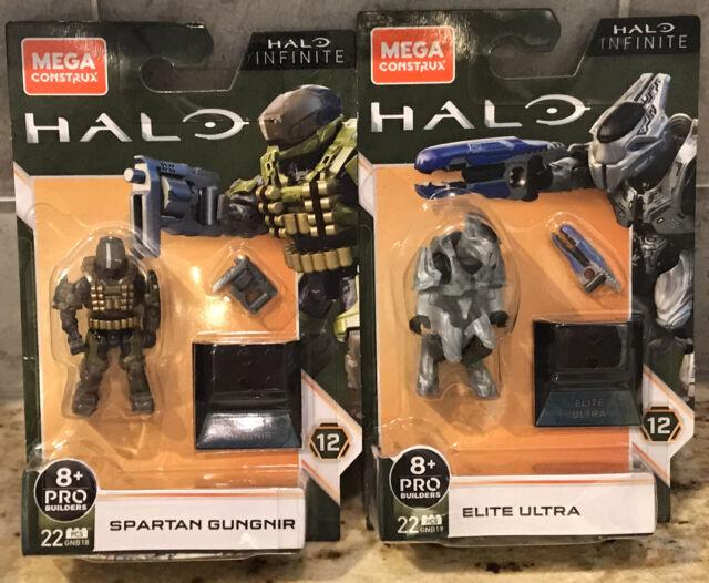 Mega Construx Halo Infinite Spartan Gungnir & Elite Ultra PLUS BONUS 3rd FIGURE