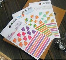 Mini Agenda Diary Day Planner & Organizer Stickers Rose Forest Jewel 3 packs