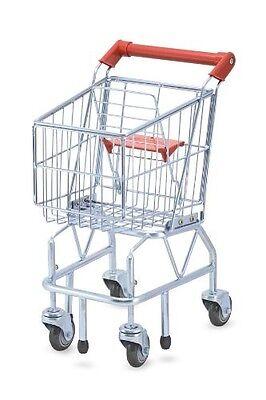 Melissa & Doug Toys Kids Shopping CART, Folding Seat Metal Toy Shopping CART