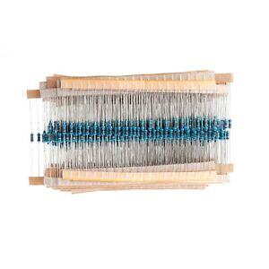 1000-Pcs-1-4W-50-Values-Metal-Film-Resistor-Resistance-Assortment-Kit-Set-1