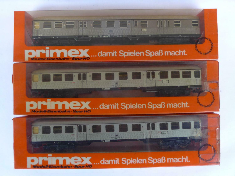 Märklin Primex HO Nahverkehrswagen Silberling 2. Klasse DB 4016 und 4012 in OVP
