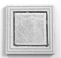 (z-440) 1pc Trim Accent Iris Ceramica Tile 3 1/8 Square Silver Gray White