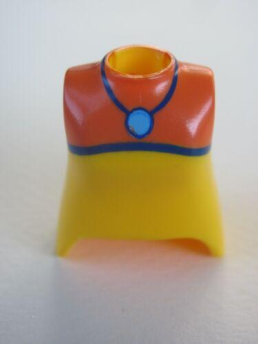 Playmobil @ @ @ @ figure woman @ @ @ @ bust custom yellow orange @ @ @ @ a bust 02