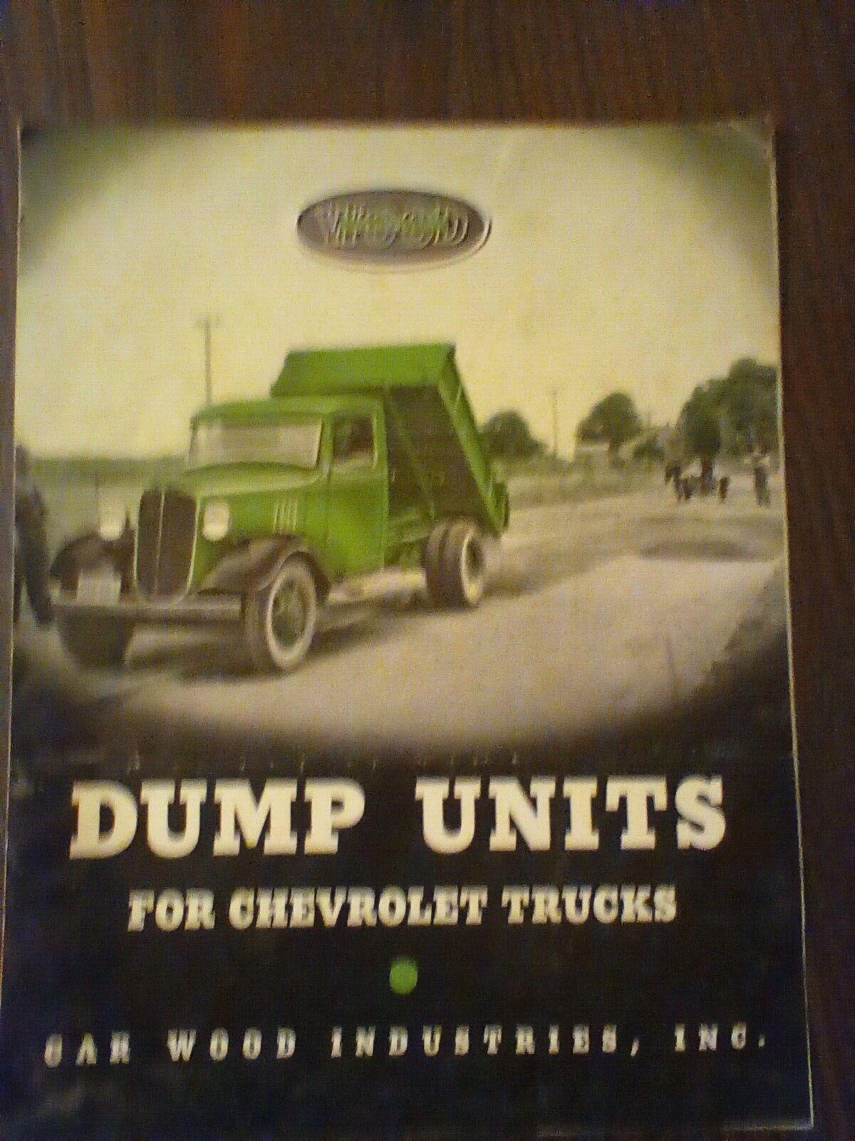 Image 1 - 1935 Wood Hydraulic, Garwood Industries Dump units for chevy trucks catalog